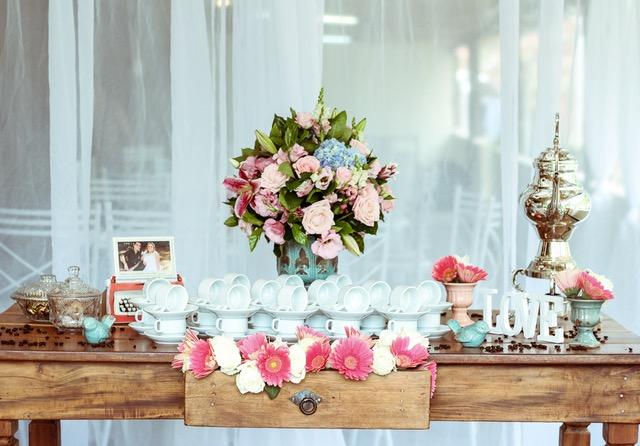 papieren bruiloft decoratie